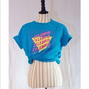 "VINTAGE VAPORWAVE Text ""CROP TOP"" Shirt ANVIL 80s"